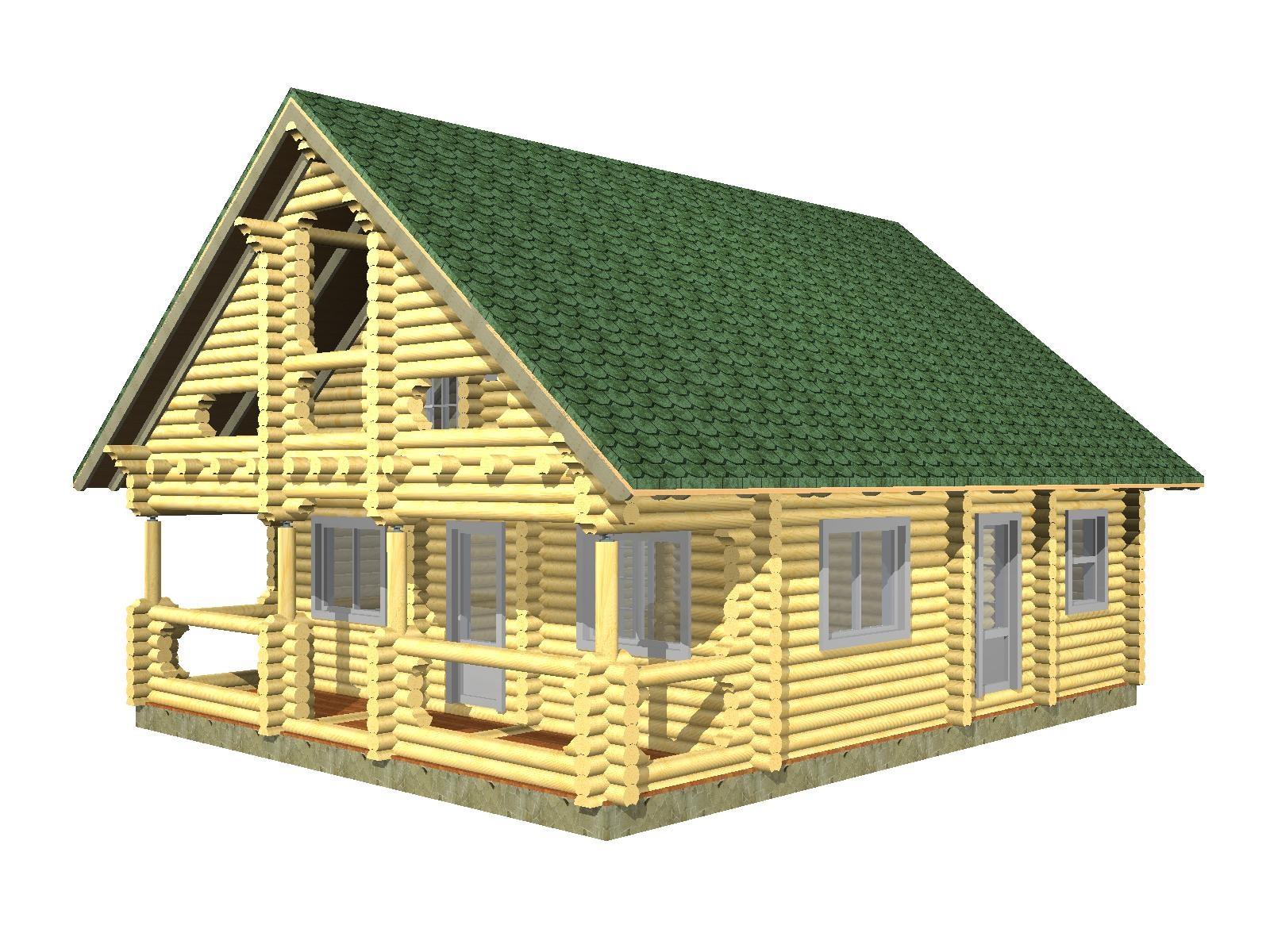 дом 7на 8 из калиброванного бревна